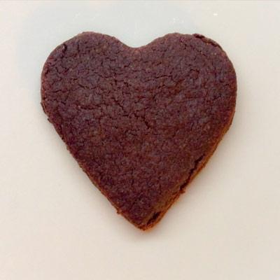 cuore di frolla al cioccolato